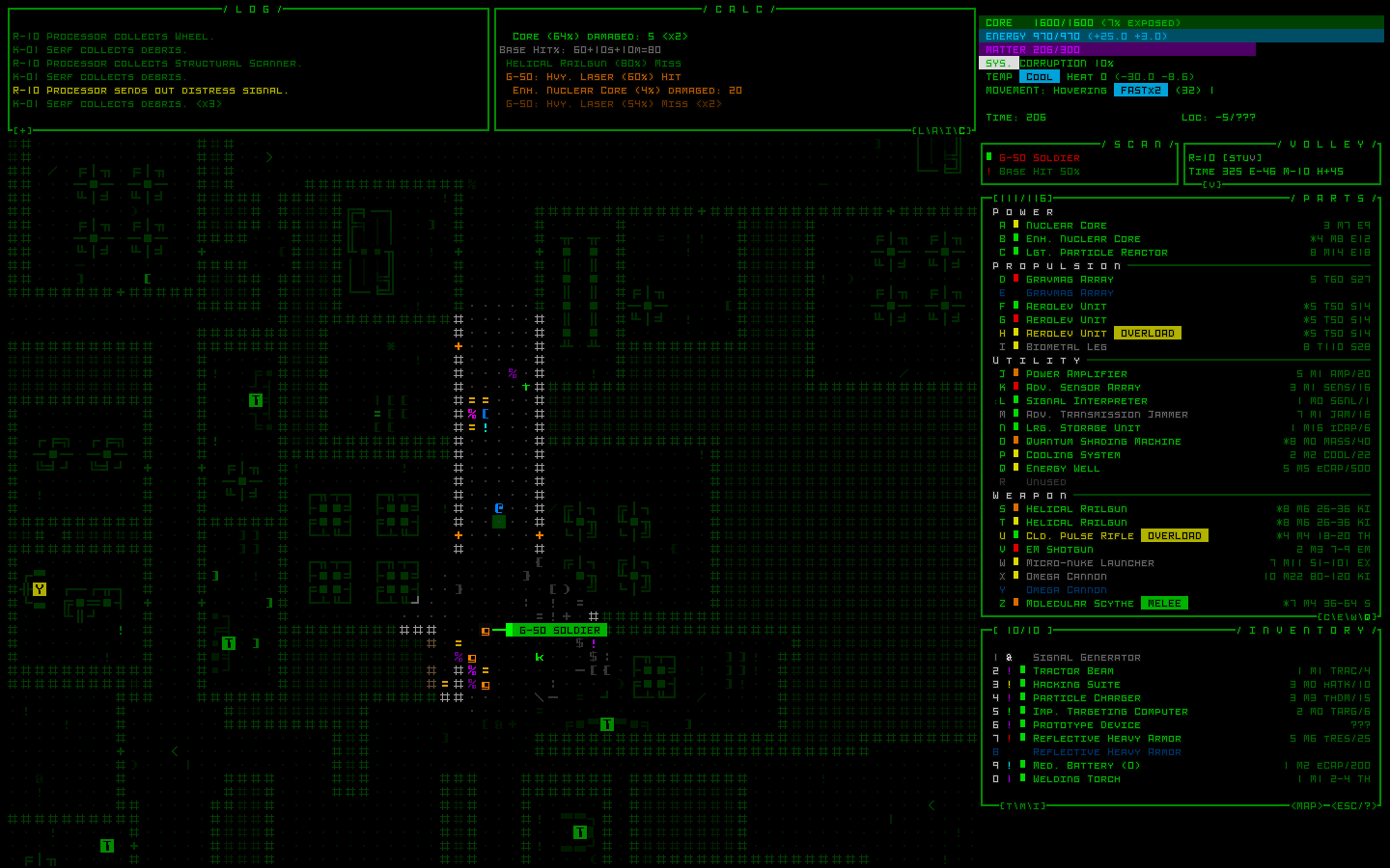 UI Preview | Cogmind - A Sci-Fi Roguelike by Grid Sage Games